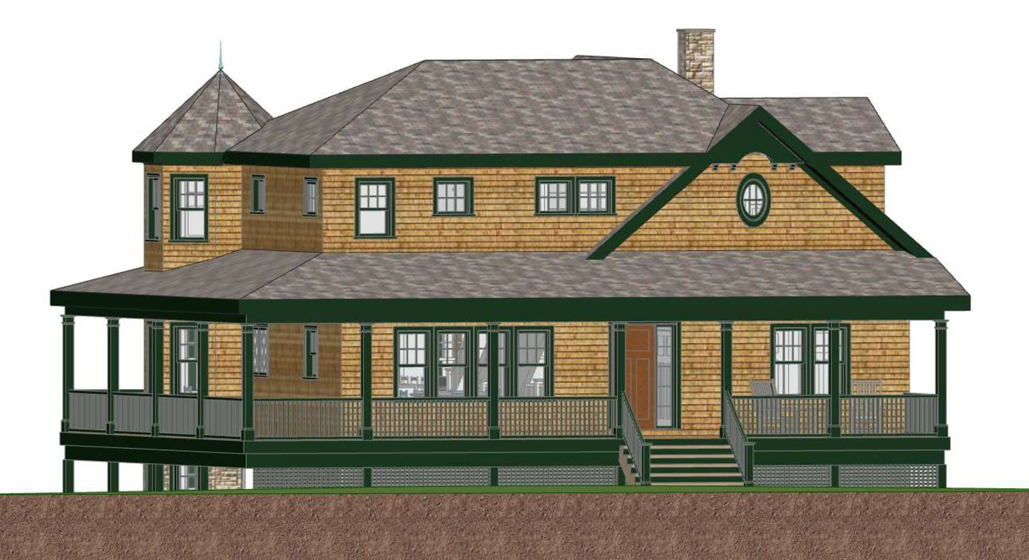 3D Design | Coastal Home Design | New Construction | Shingle Style Home | 3D Home Rendering