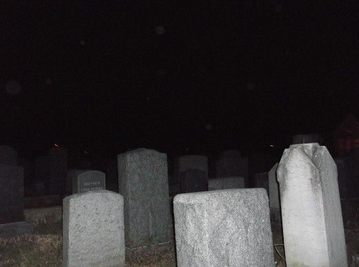More orbs....different cemetery.