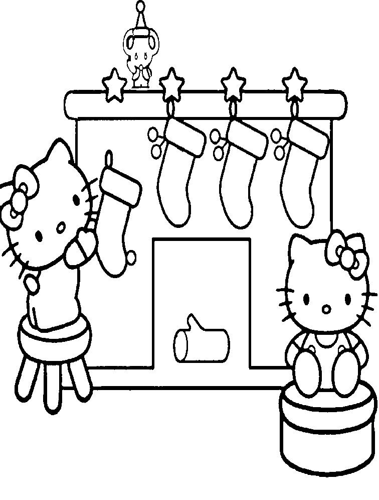 Hello Kitty Christmas Crackers And Christmas Coloring Pages Hello Kitty Coloring Hello Kitty Colouring Pages Kitty Coloring