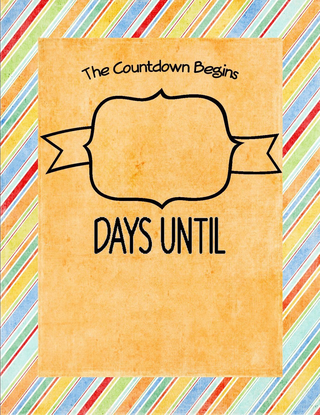 Countdown Days Until Summer
