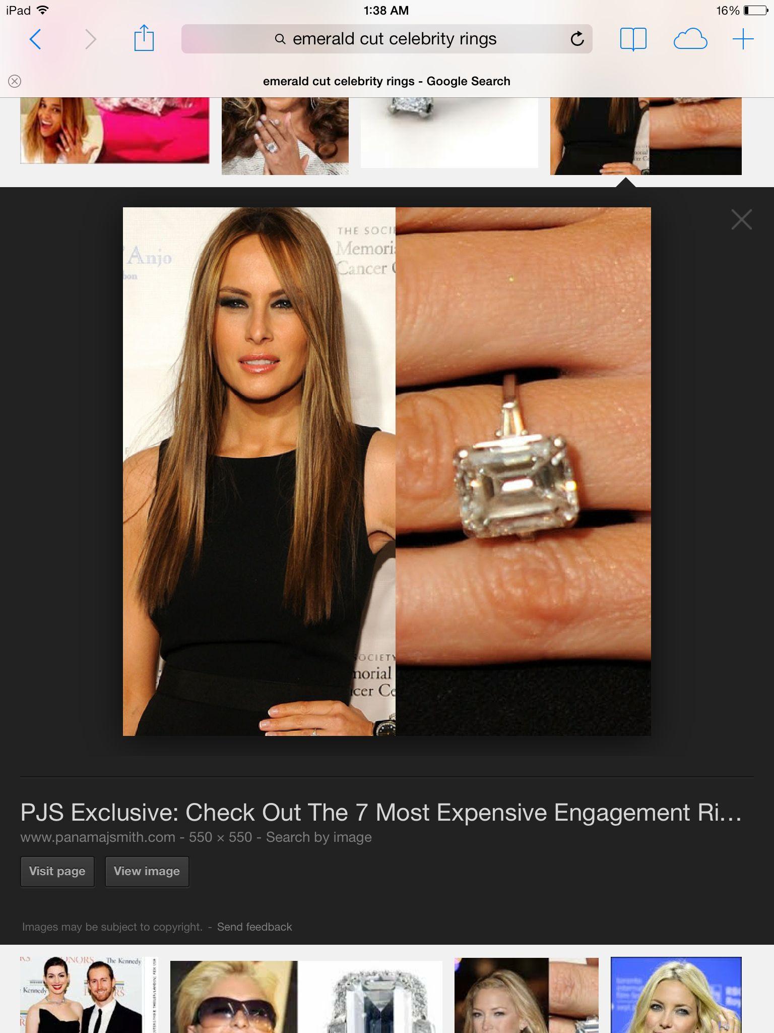 Engagement ring. Emerald cut.
