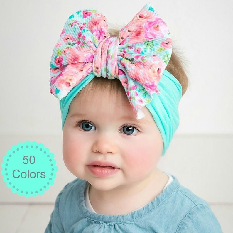 Big Bow Bow headband Baby Turban Baby Headwrap Olive Green Big Bow Headwrap