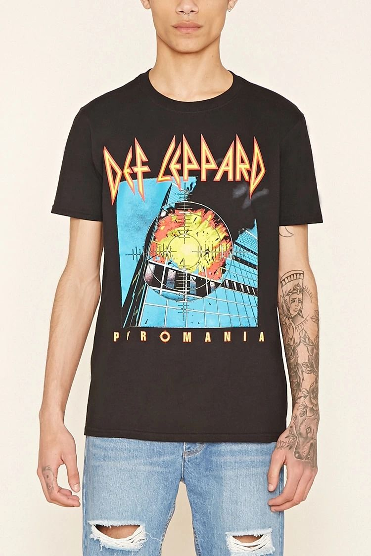 7a434a0a3 Def Leppard Graphic Tee #forever21men | forever 21 | men | Graphic ...