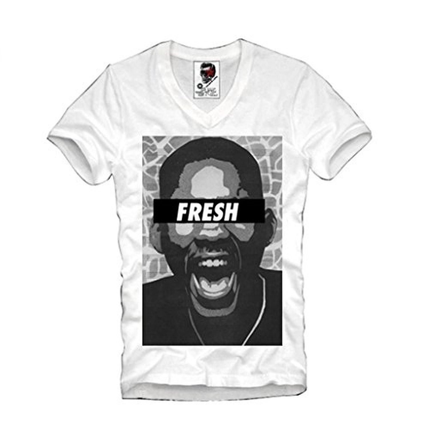 E1SYNDICATE MENS V-NECK T-SHIRT FRESH PRINCE OF BEL AIR WILL SMITH S/M/L/XL - Brought to you by Avarsha.com