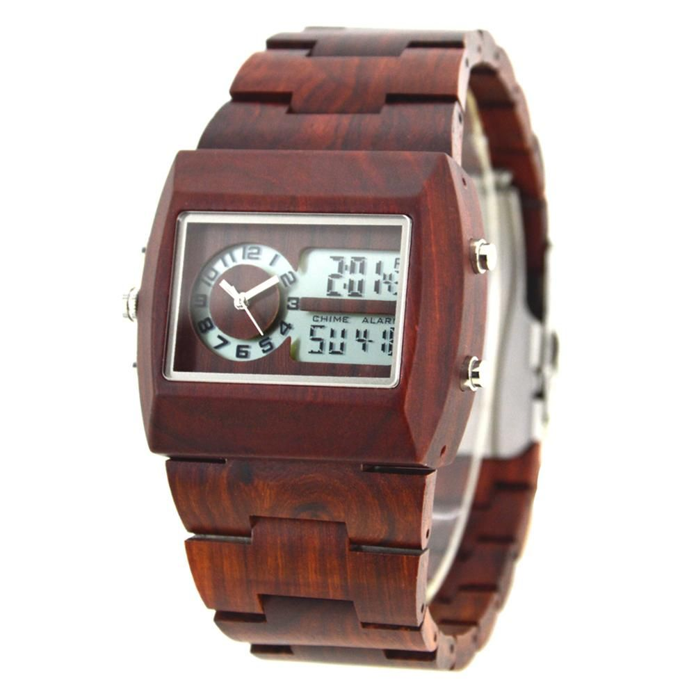 8a66824cafb BEWELL Wood Watch Men Multifunctional electronics mens watches top brand  luxury relogio masculino No LOGO horloges