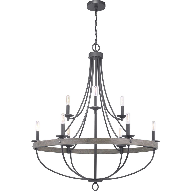 Nine Light Classic Chandelier Chandelier Lighting Progress Lighting Custom Lamp Shades