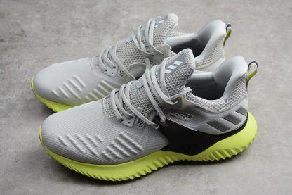 b50267485 Mens adidas AlphaBounce Beyond 2 M Grey Black-Green Free Shipping-2