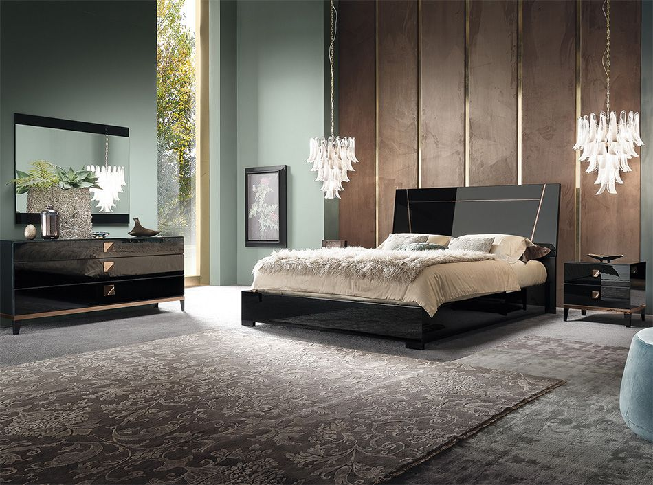 Mont Noir Italian Bedroom Set By Alf Group Mig Furniture