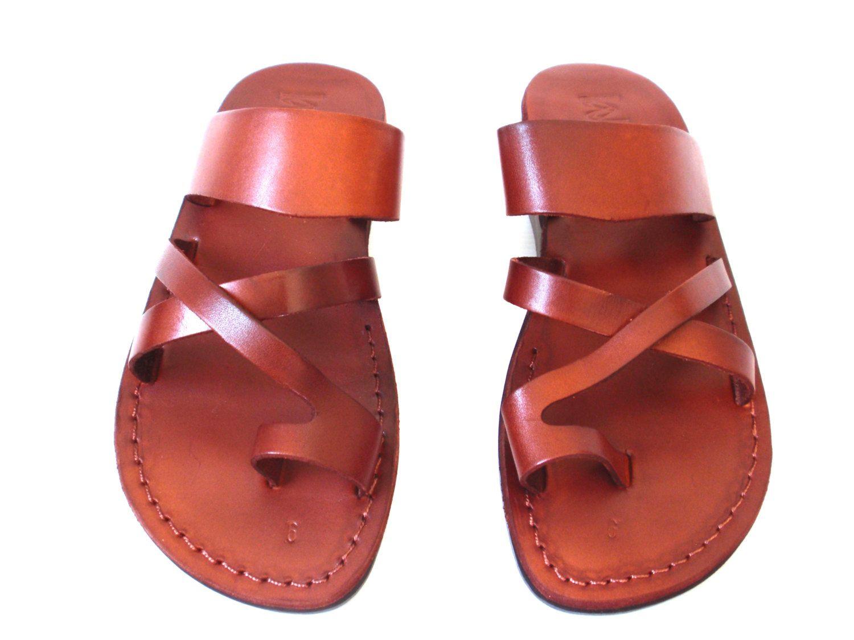 e7aadc8f1fba9 SALE! Leather Sandals ROMAN Men's Shoes Jesus Jerusalem Strappy ...