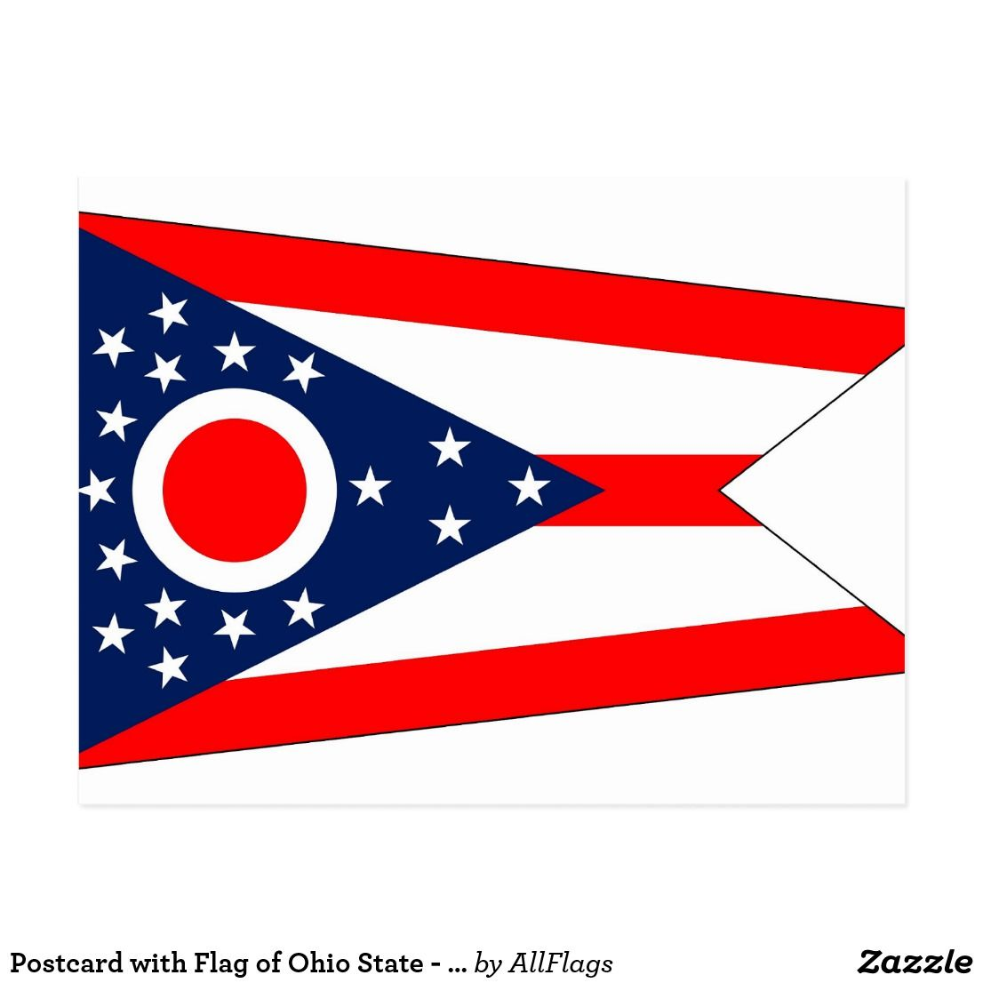 Postcard With Flag Of Ohio State