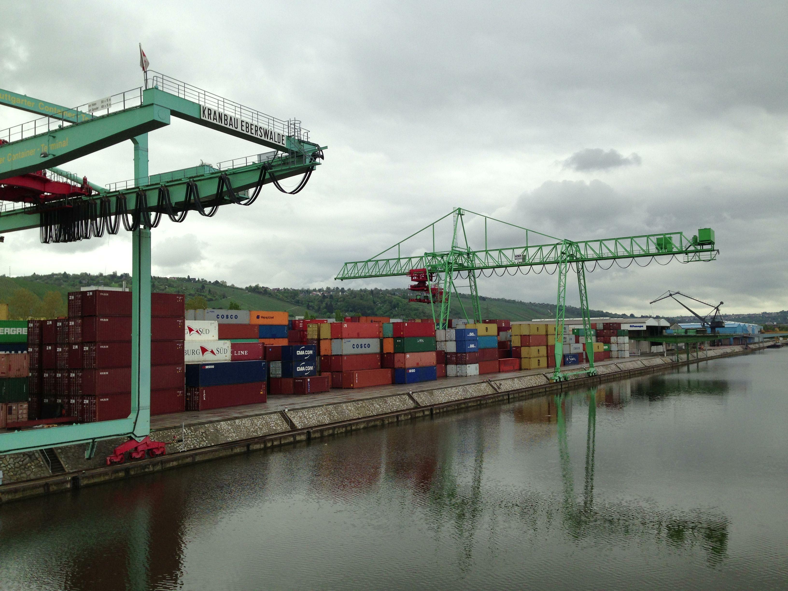 Im Hafen von Stuttgart