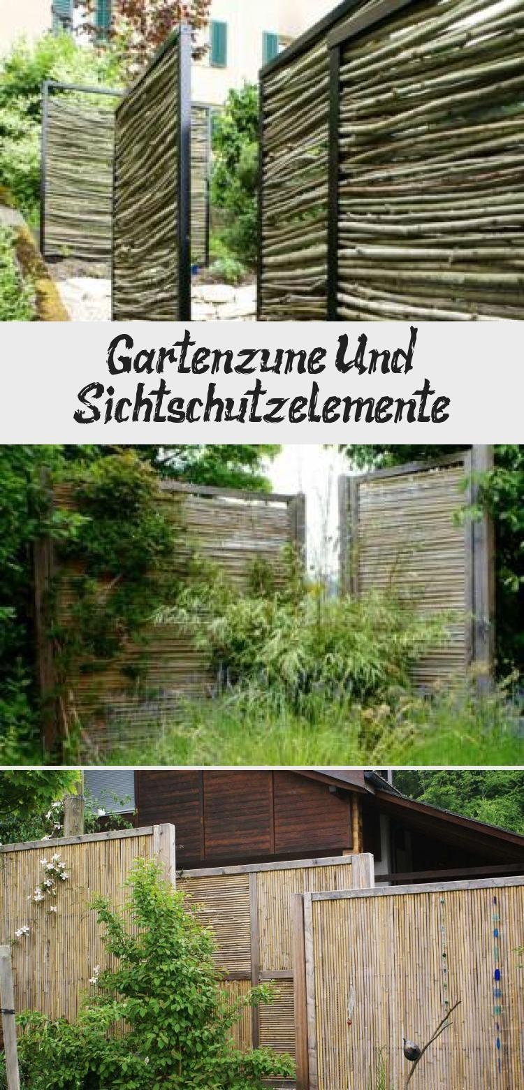 Gartenzaune Und Sichtschutzelemente In 2020 Sichtschutzelemente Garten Sicht