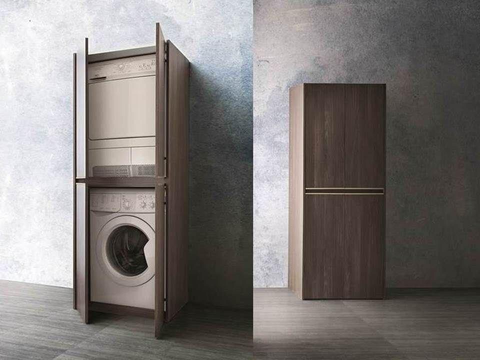 Mobili Per Nascondere La Lavatrice.Colonna Porta Lavatrice E Asciugatrice Arredamento Lavanderia Lavanderie Moderne Armadio Lavatrice