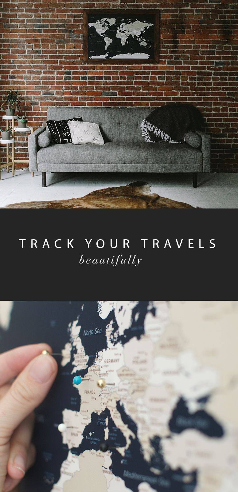 Track Your Travels In The Most Beautiful Handmade Push Pin Travel - World map track your travels
