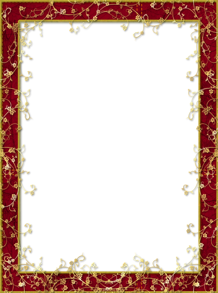 red frames png | Red_Transparent_PNG_Frame_with_Gold_Flowers.png?m ...