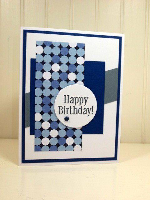 Handmade Birthday Card Stampin Up Blue Masculine Male Birthday