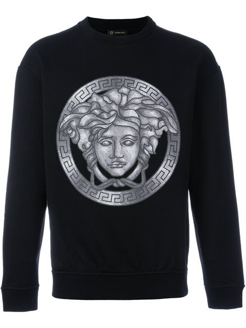 VERSACE Mosaic Medusa Print Sweatshirt. #versace #cloth #sweatshirt