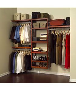 @Overstock - This John Louis closet system is made from durable pinewood with a red mahogany finish. It offers hanging space, adjustable shelves and multiple configuration options.http://www.overstock.com/Home-Garden/John-Louis-Deluxe-Red-Mahogany-Closet-System/2885249/product.html?CID=214117 CAD 629.27