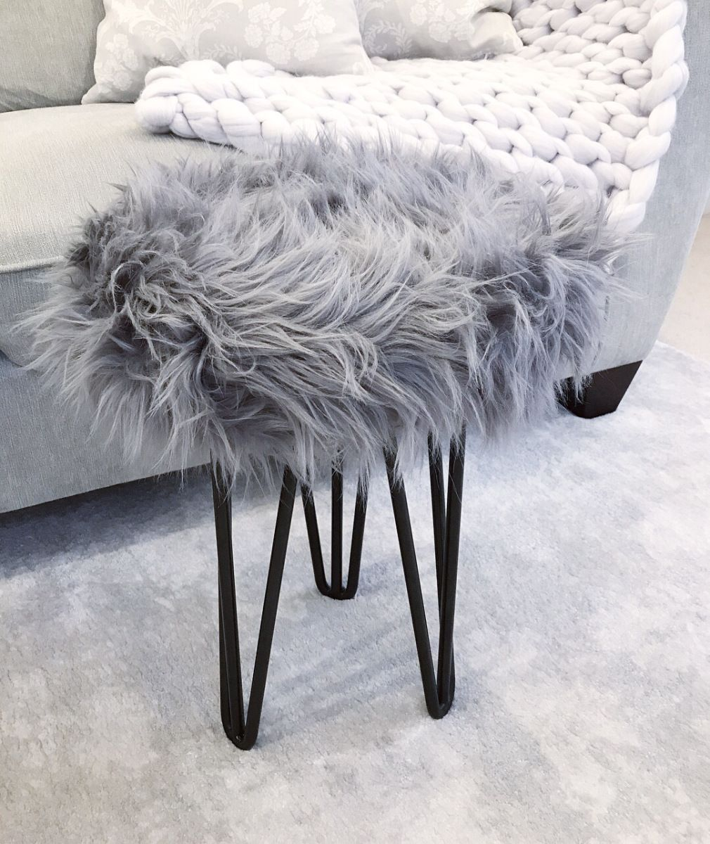THE FLUFFY STOOL Little Home Comforts Fluffy stool