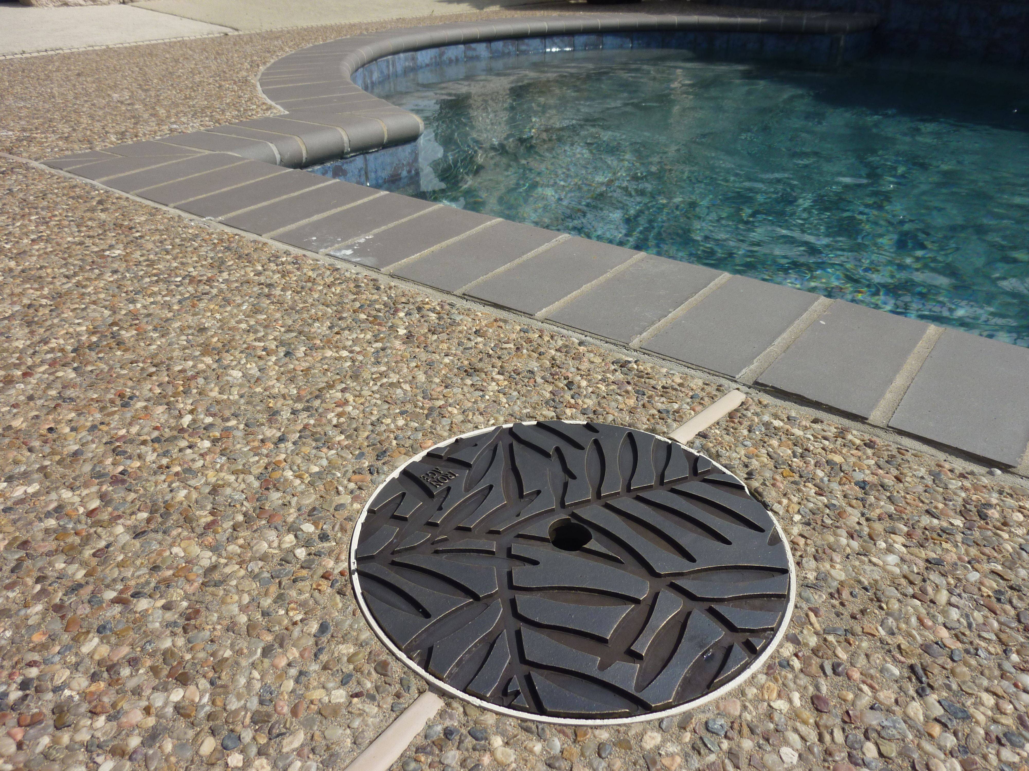Decorative Pool Covers : Bronze locust skimmer lid replacement iron age pool