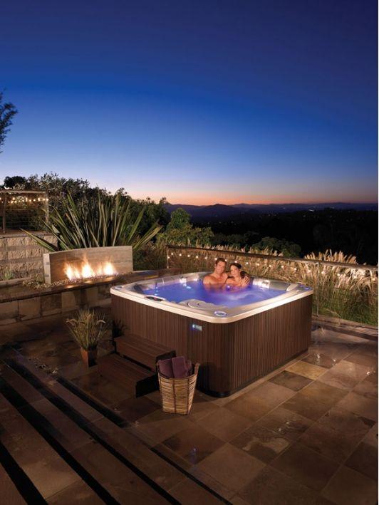 Hot Spring Flair Spa Hot Tub Sauna Hot Tub Backyard