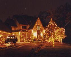 Residential Outdoor Christmas Light Display | ... christmas light design, christmas light installation christmas light