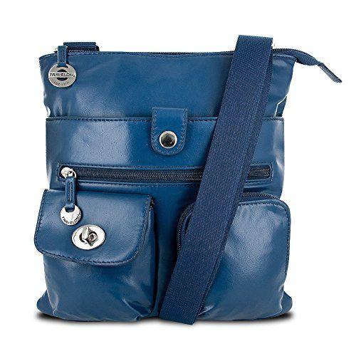 Travelon Slim Convertible Cross Body Handbag, Navy