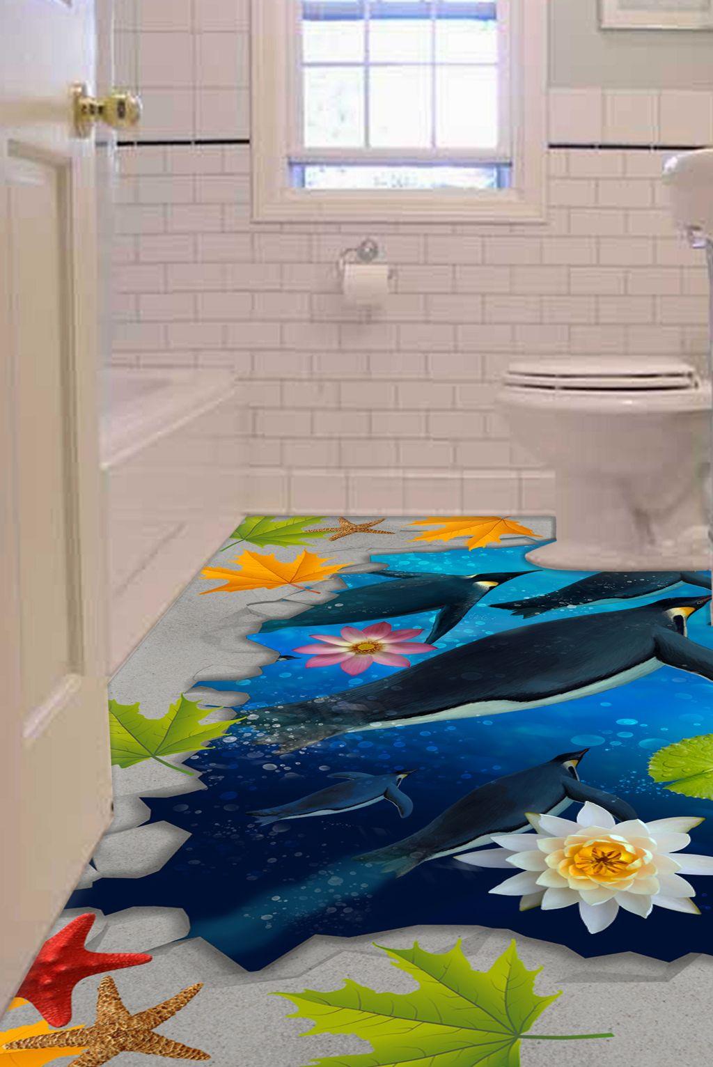 3d Epoxy Flooring For Bathroom Penguin Theme Epoxy Floor 3d Epoxy Floor Flooring