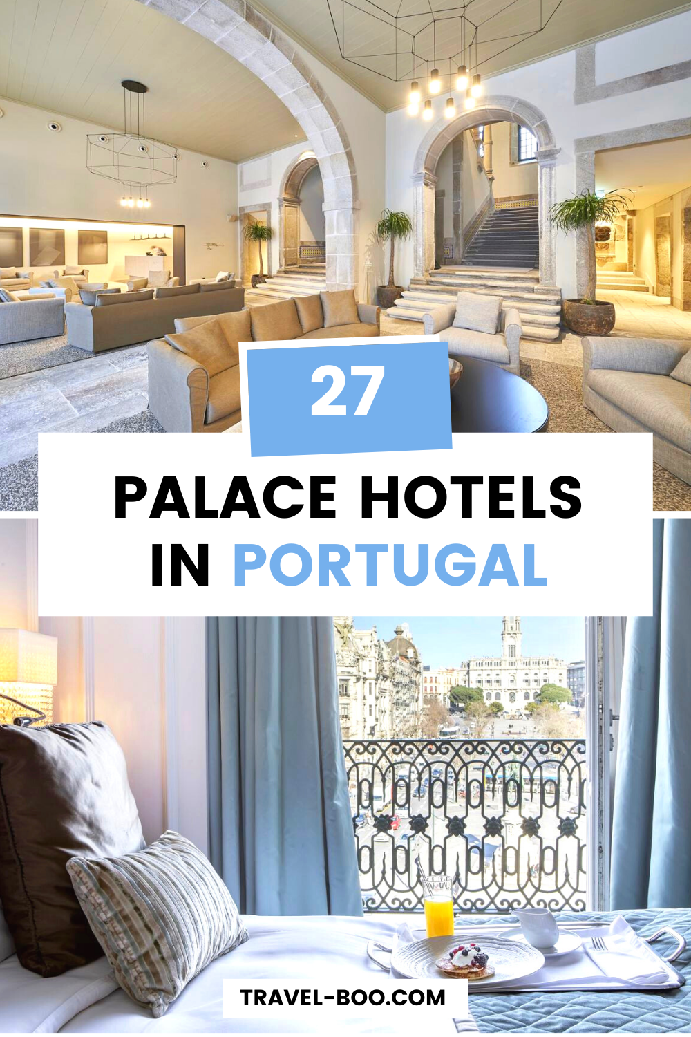 Check out this list of 27 stunning Palace Hotels & Manor Houses that you can overnight in when travelling to Portugal. Don't miss your chance to live like royalty!! #portugaltravelguide #portugal #portugaltravel #europetravel #lisbontravel #portotravel | Portugal Travel Guide | Portugal Travel | Portugal Travel Tips | Where to Stay in Portugal | Lisbon Travel | Porto Travel | Europe Travel | European Travel Destinations | Europe Travel Guide