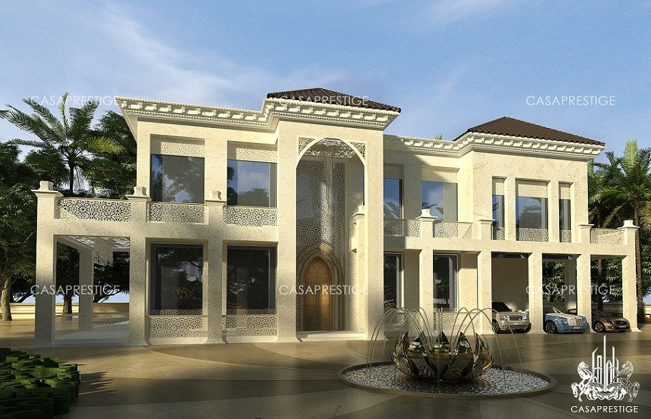 Fp villa exterior design dubai beautiful houses for Palace design homes