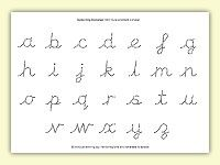 CCW Cursive Dotted 2 alphabet worksheet | Homeschool