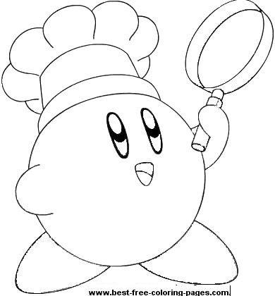 Click to print chef kirby coloring page kirby coloring for Cute kirby coloring pages