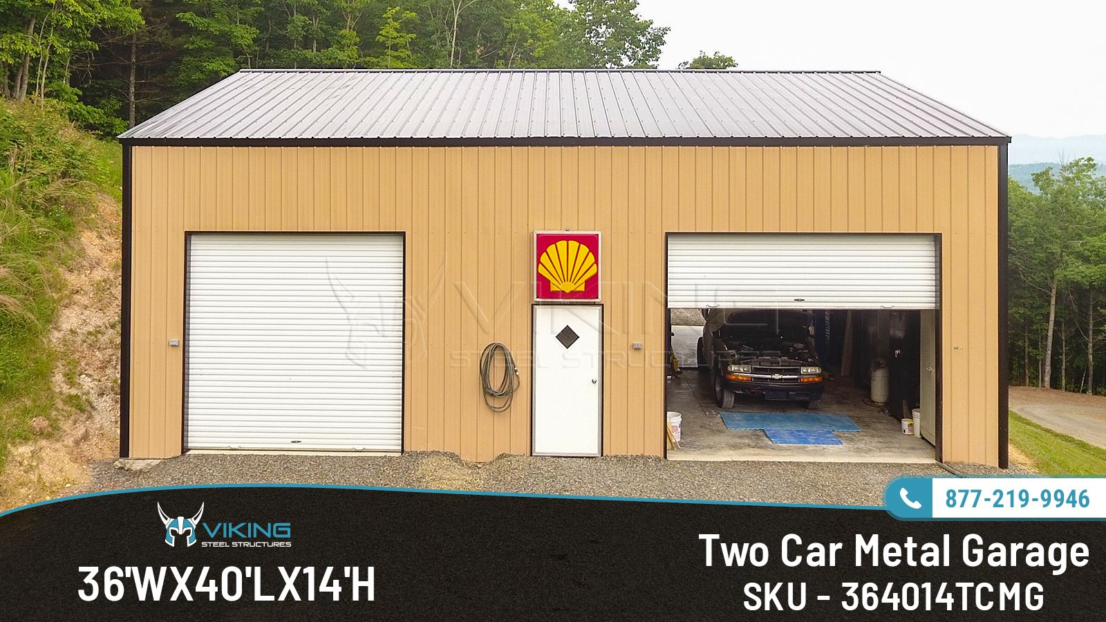 36x40x14 Two Car Metal Garage Metal Garages Metal Garage Buildings Metal