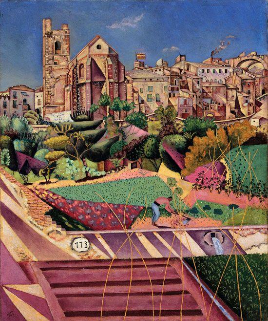Joan Miró - Mont-roig, l'eglise et le village, 1919, oil on canvas