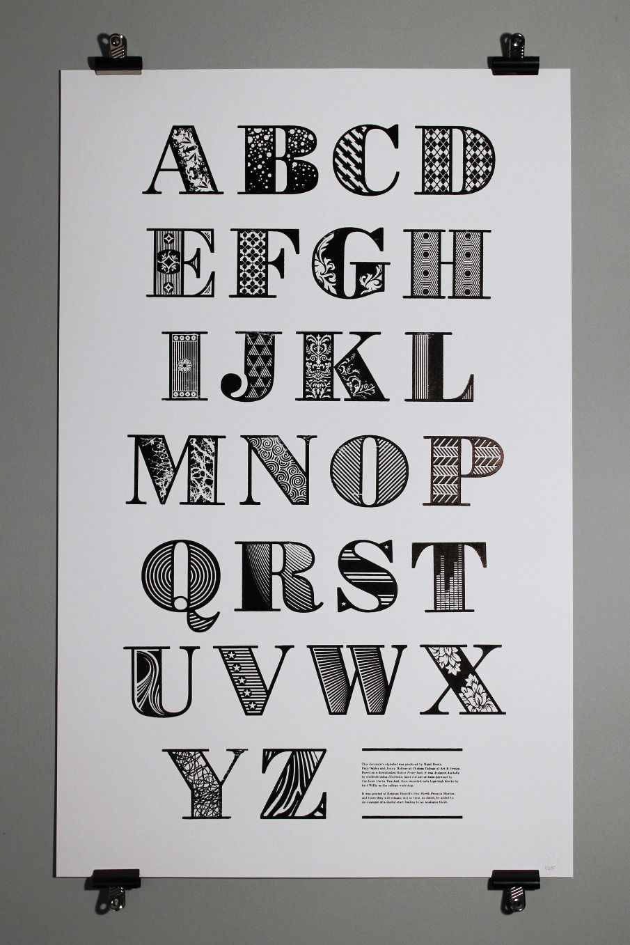 Poster design tumblr - Decorative Alphabet Version Of Bodoni Poster Produced By Nigel Bents Paul Oakley And Jonny Holmes At Chelsea College Of Art Design