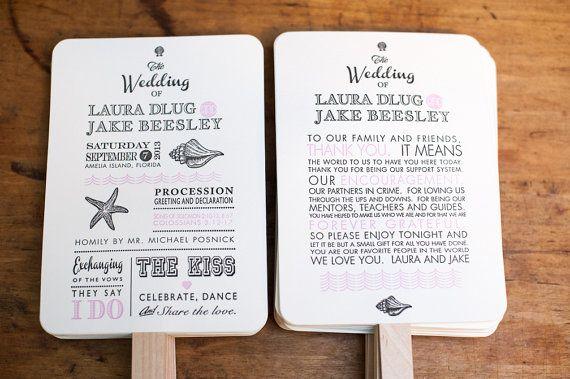 Beach Wedding Program Fans Destination Wedding Program Fan Wedding Fan Custom Wedding Custom Wedding Program Printable Wedding Programs Diy Wedding Programs