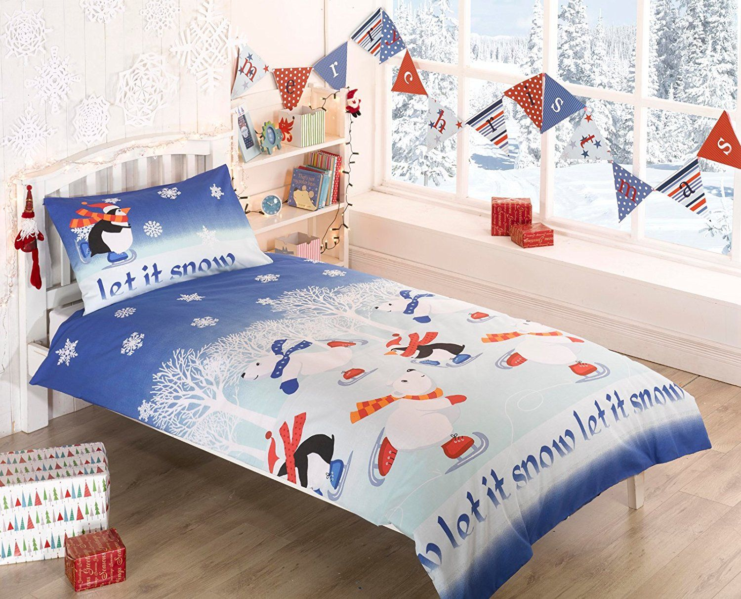 Polar Bear Penguin Single Duvet Cover & p/case Bedding Bed Set ...