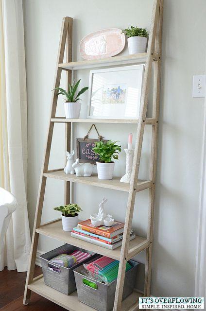 How I Decorated For Easter Shelf Decor Living Room Interior