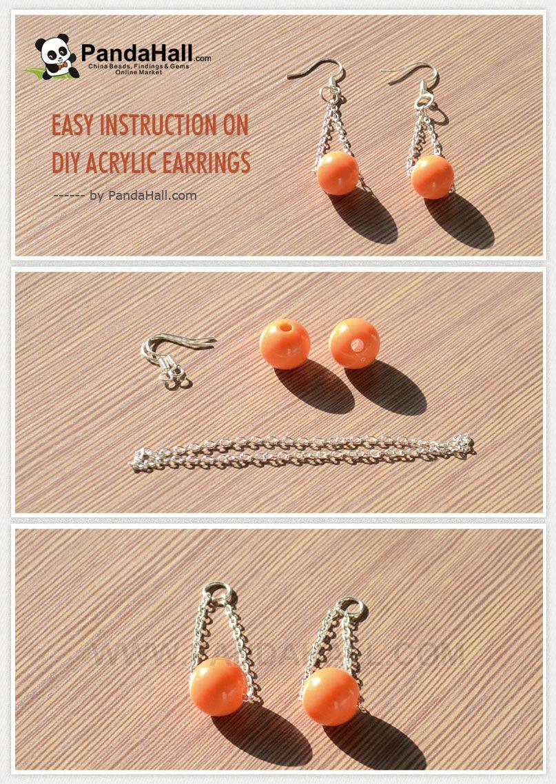 Easy Instruction on DIY Acrylic Earrings