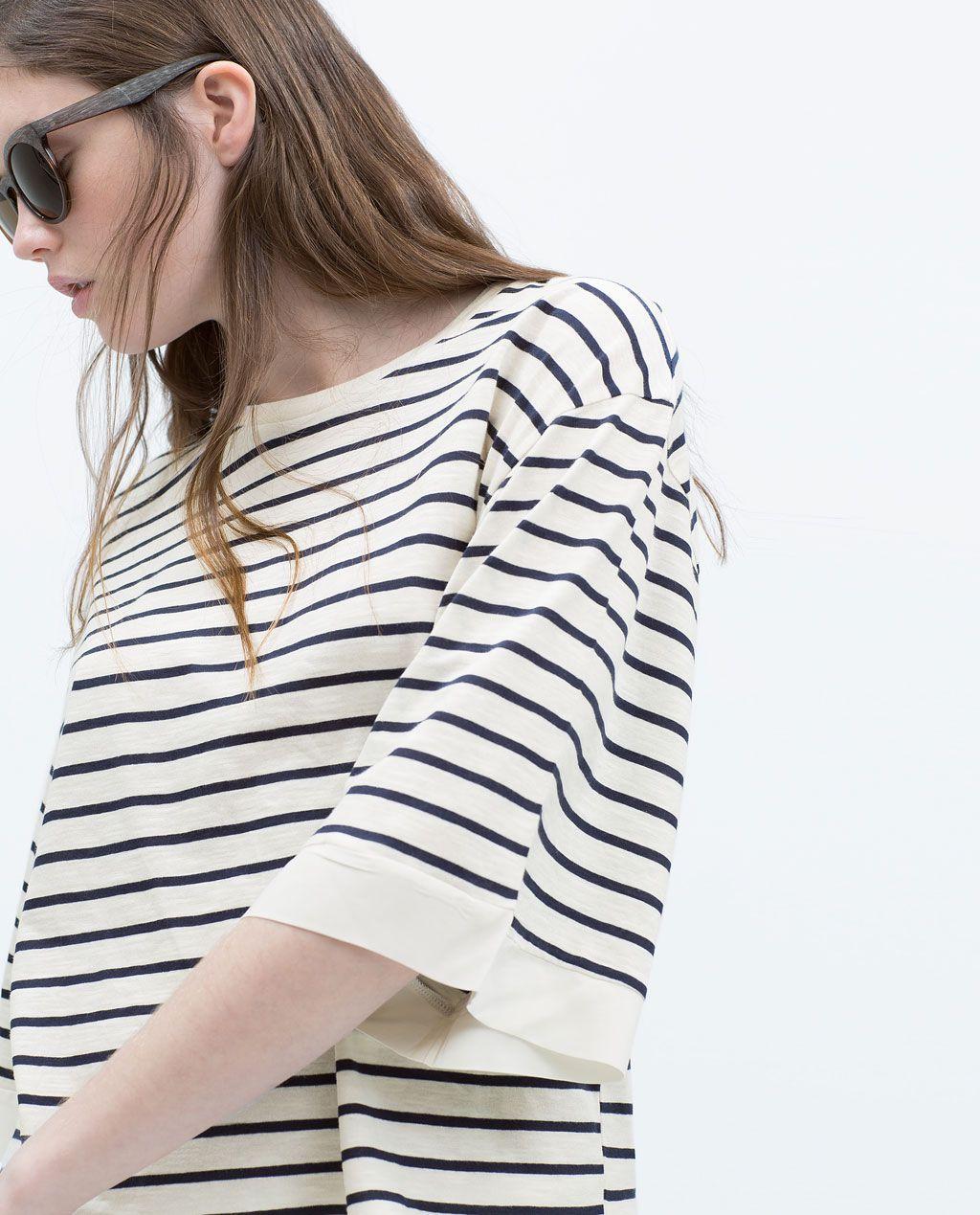 Zara nieuw deze week shirt met kimonomouw clothes pinterest