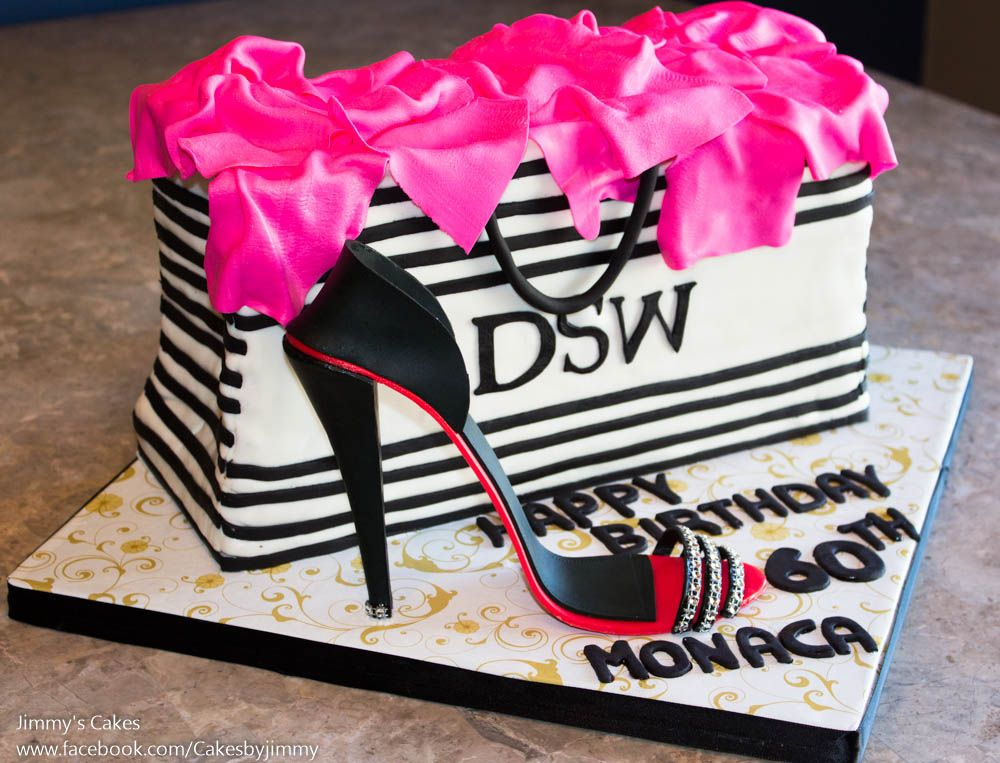 CakeDSW Shopping Bag with Gumpaste High Heel Shoe junioradult