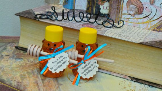First Birthday Honey Favors  60 Mini Bears Mini Dippers by JCBees
