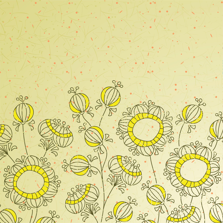 花のイラスト フリー素材 壁紙 背景no 147 手書き風 ポップ アート 花 イラスト イラスト 手書き 壁紙 イラスト