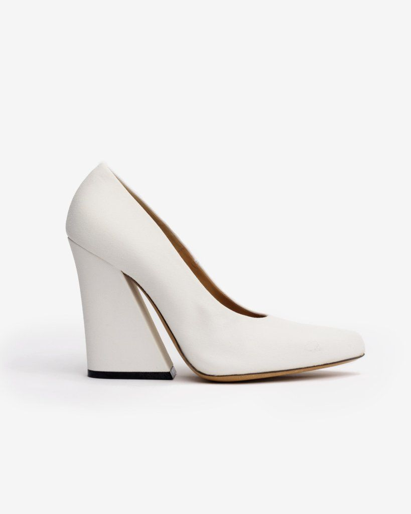 1dbb17389 Canvas Heel in White by Dries Van Noten Woman at Mohawk General Store
