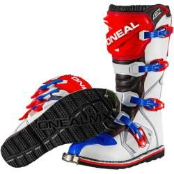 Photo of O'Neal Rider Motocross Stiefel Rot Blau 48 O'Neal