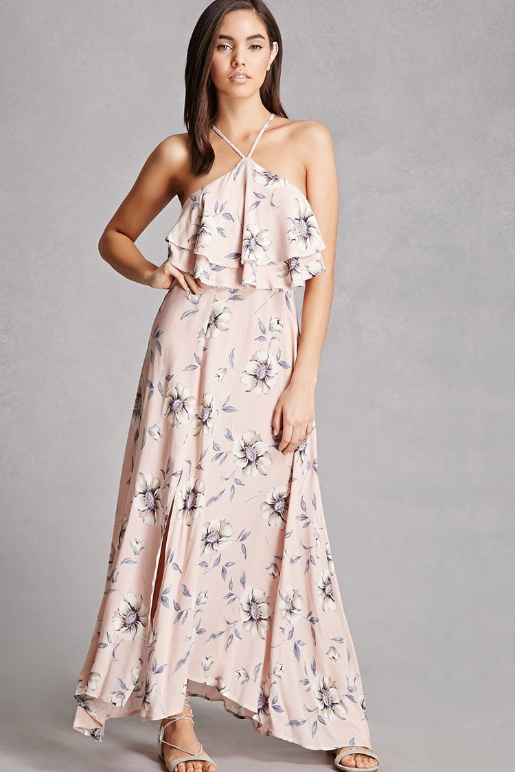 A woven maxi dress by selfie leslie featuring an allover floral