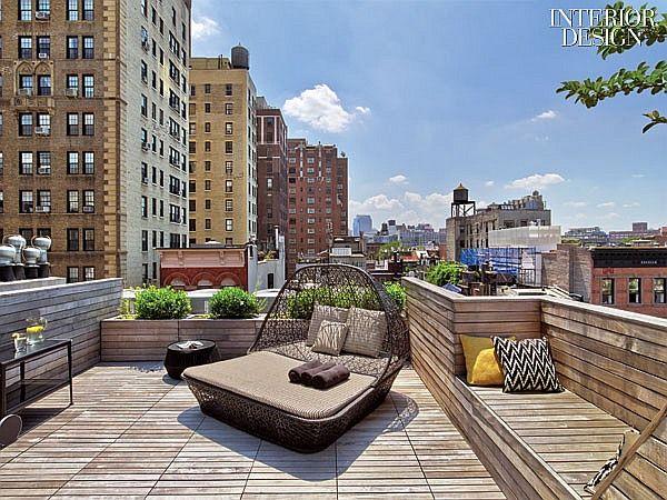 Trooping The Colors Revamp Enlivens Village Apartment Terrace Design West Village Townhouse Roof Terrace Design