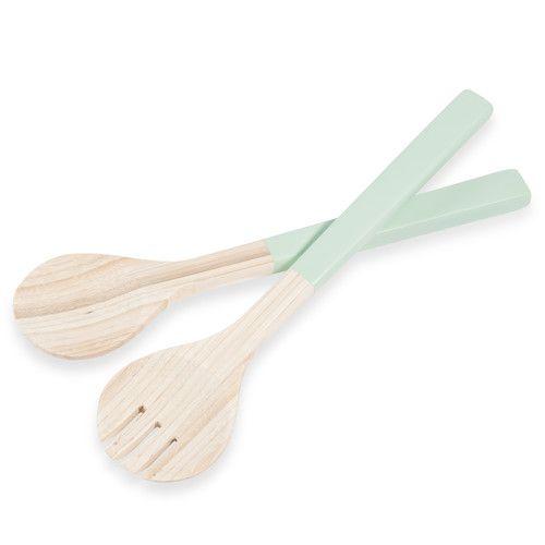 Posate da insalata color verde in bambù MINT   Maisons du Monde