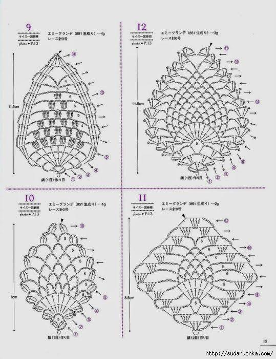 Crochet: Pineapple motives   Lesley   Pinterest   Ganchillo ...