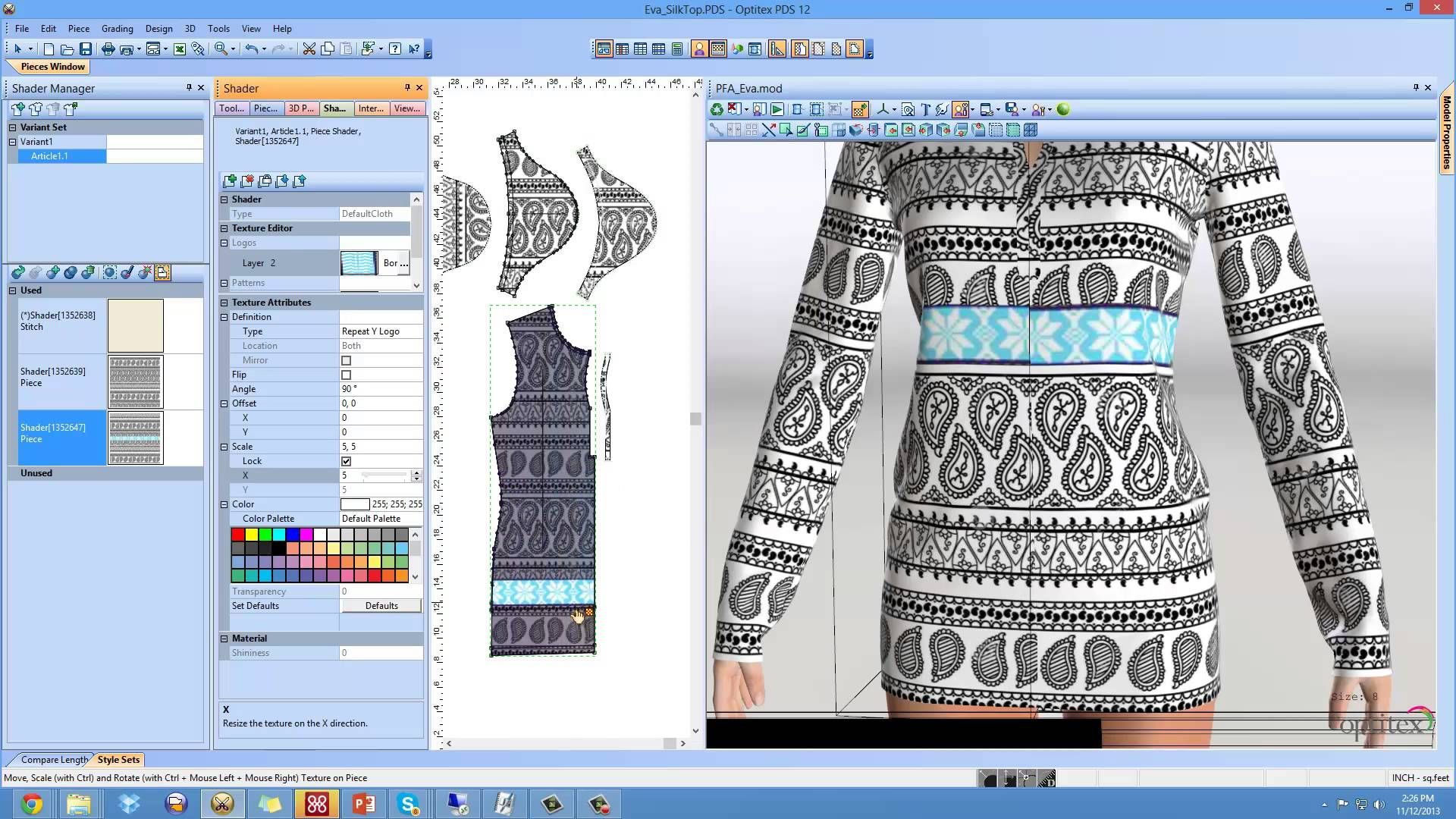 Optitex Textile Design In 3d Ladies Top Design Clothes Design Tops Designs